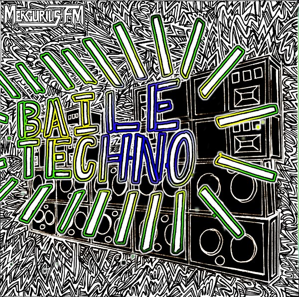 Mercurius FM Baile Techno cover art by Melissa B