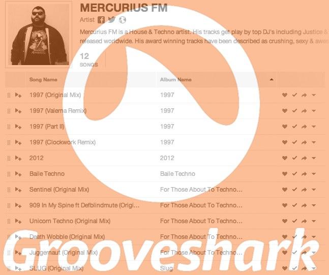 mercurius fm grooveshark