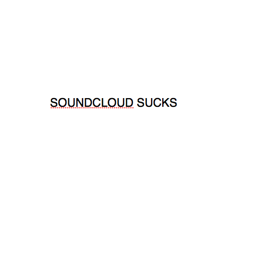 soundcloud sucks