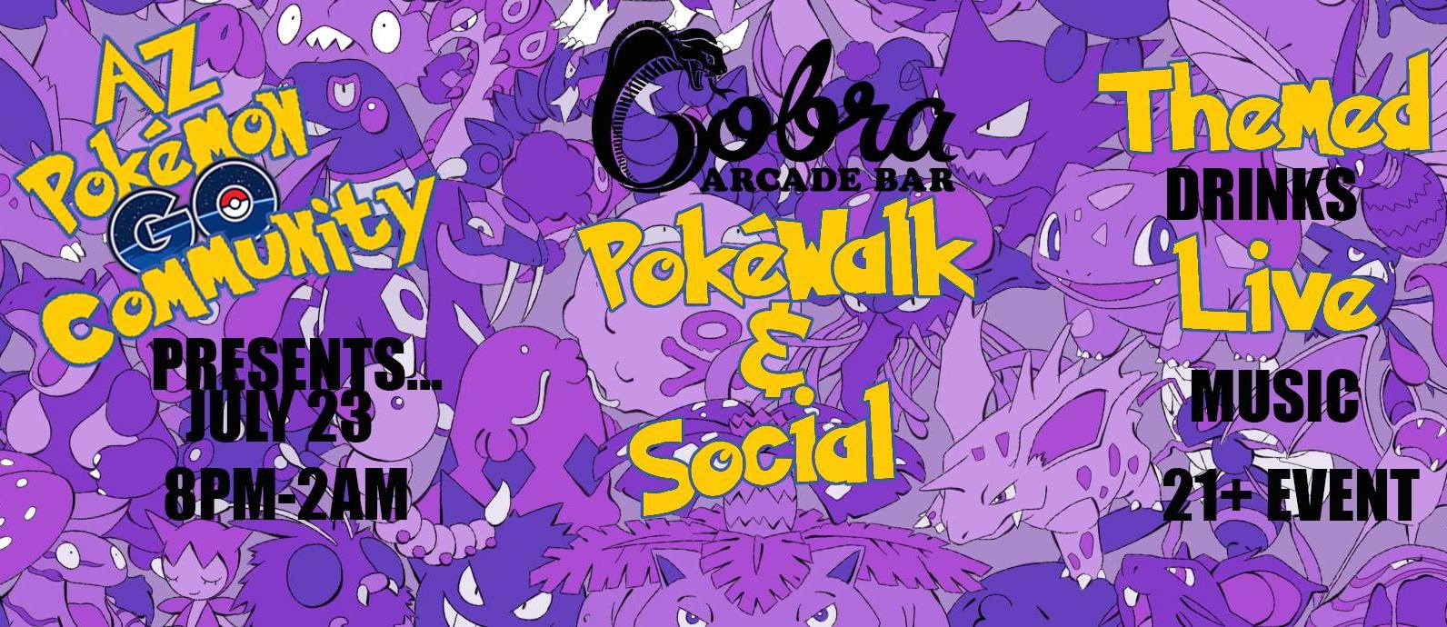 Just Announced: DJ gig this Saturday at Cobra Arcade (Pokemon GO Party)